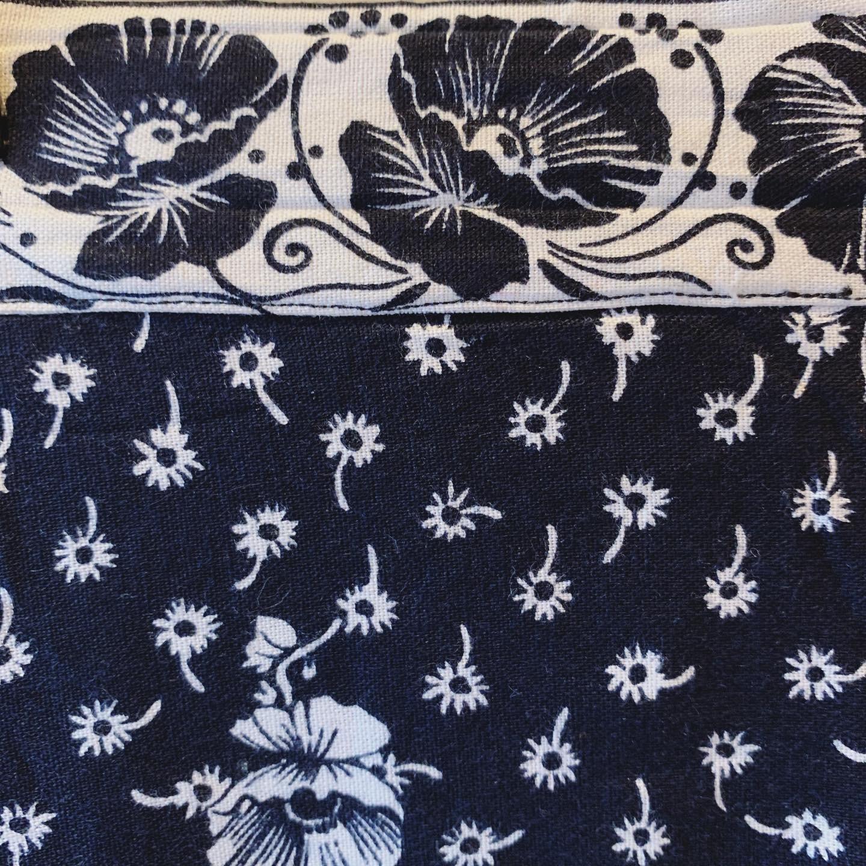 vintage flower design cotton skirt