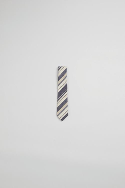 ネクタイ / TIE - LINEN STRIPE