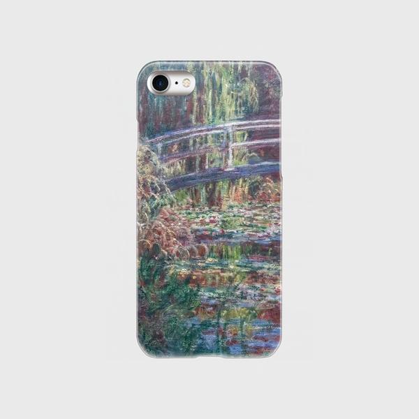モネ「睡蓮の池、バラ色の調和 1900」 スマホケース