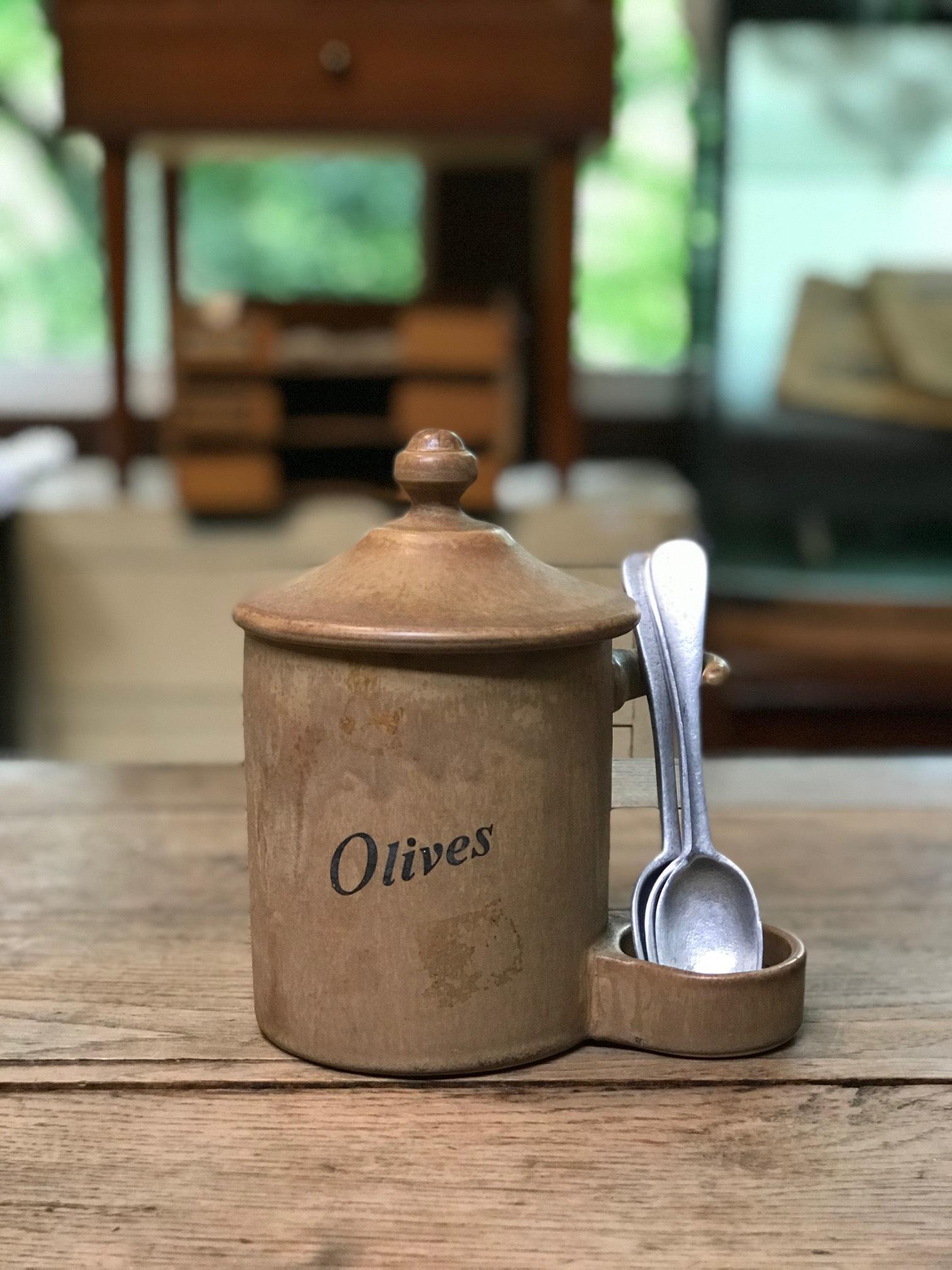 ヨーロッパ ヴィンテージ 陶器 ポット スプーン付き