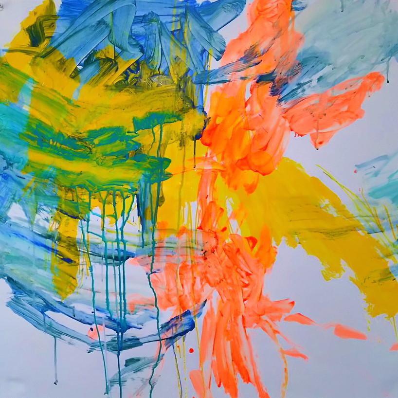 絵画 絵 ピクチャー 縁起画 モダン シェアハウス アートパネル アート art 14cm×14cm 一人暮らし 送料無料 インテリア 雑貨 壁掛け 置物 おしゃれ ロココロ 現代アート 抽象画 画家 : tamajapan 作品 : t-19