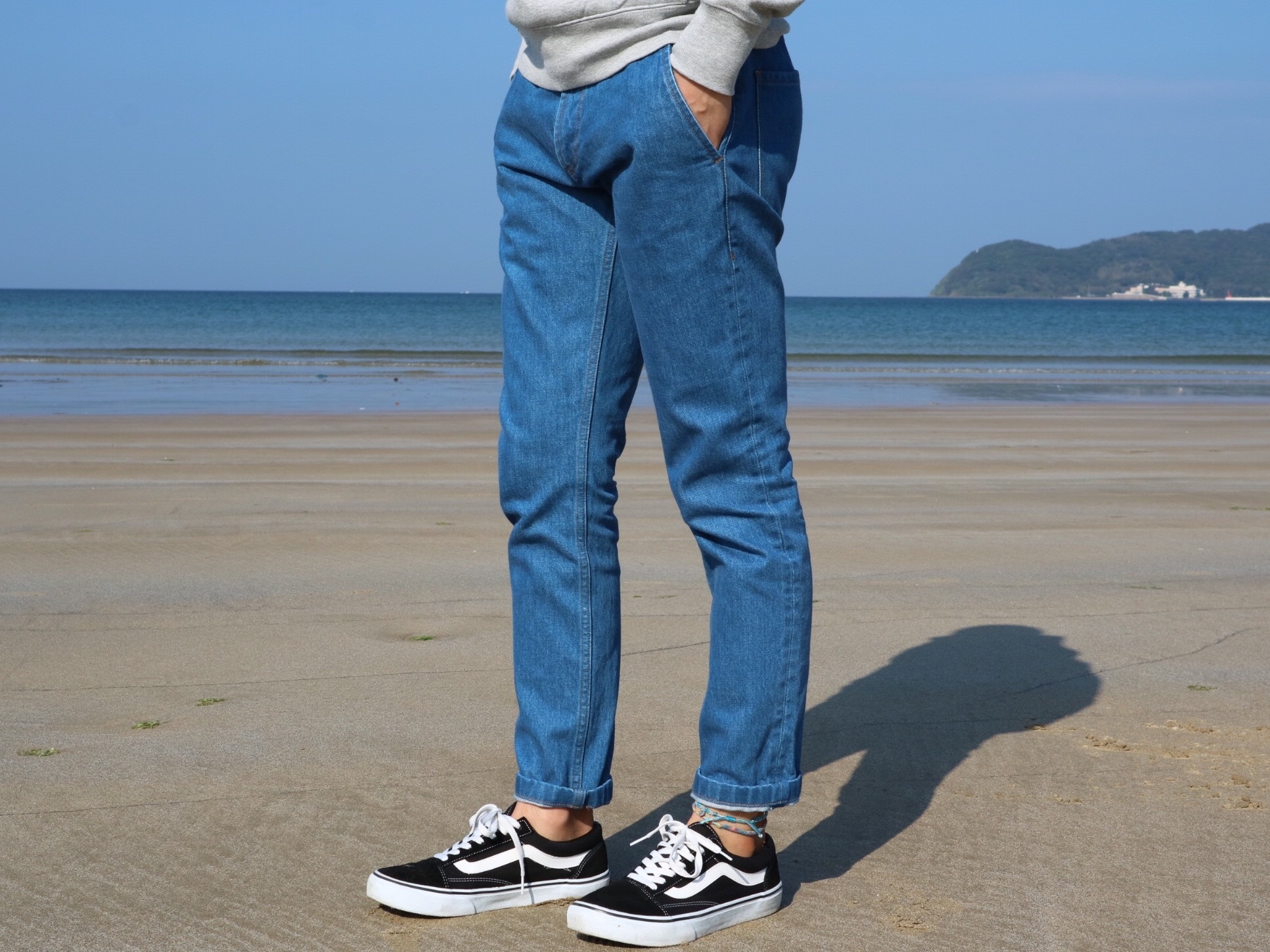 ThreeArrows Slacks Denim(indigo blue)