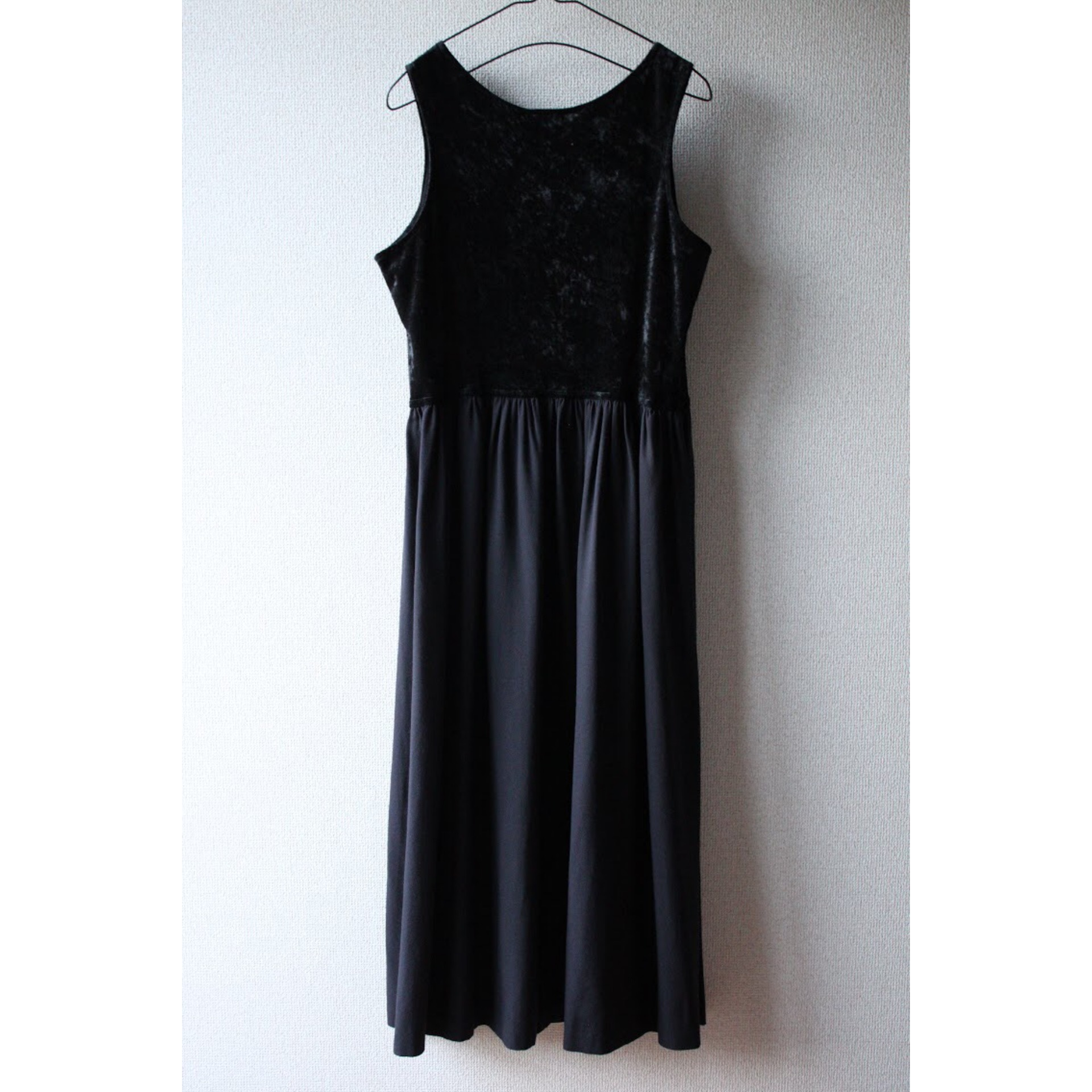 Vintage velor two piece dress