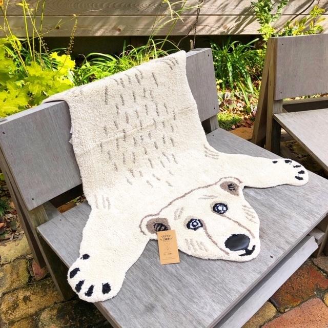 Animal Mat! Tepee Zoo ラグ/ Polar Bear しろくま