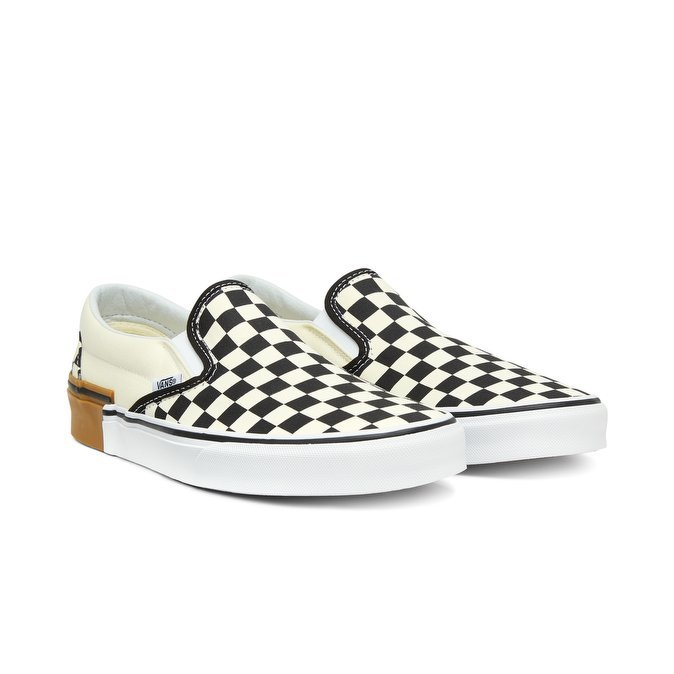 VANS CLASSIC SLIP-ON (GUM BLOCK) CHECKERBOARD