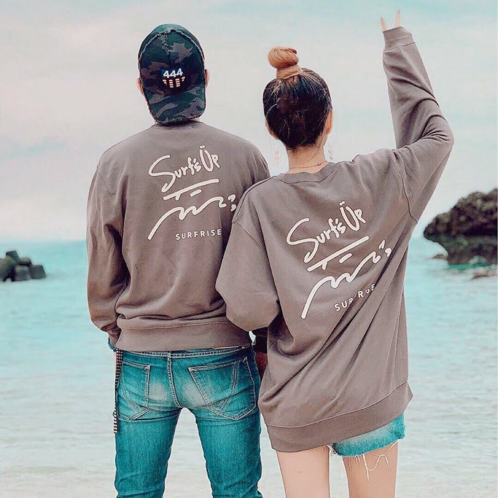 【予約販売】Surf's Up sweat - Charcoal ※10月中旬~下旬発送