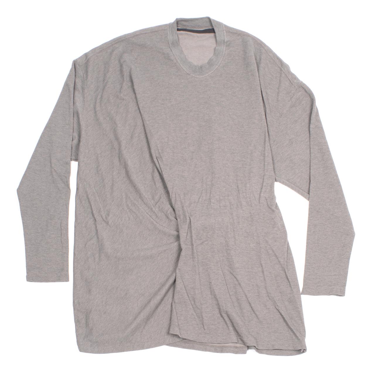 717CUM6-TAUPE / ドレープロングスリーブTシャツ