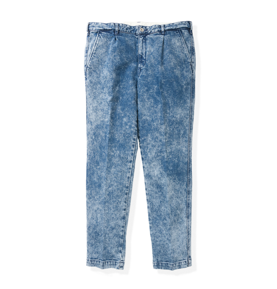 【SON OF THE CHEESE】Denim slacks(BLUE)