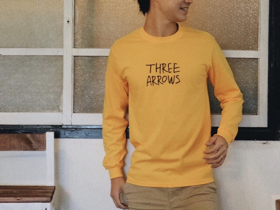 【9/11 21:00販売開始】THREEARROWS LOGO L/S TEE(mustard)