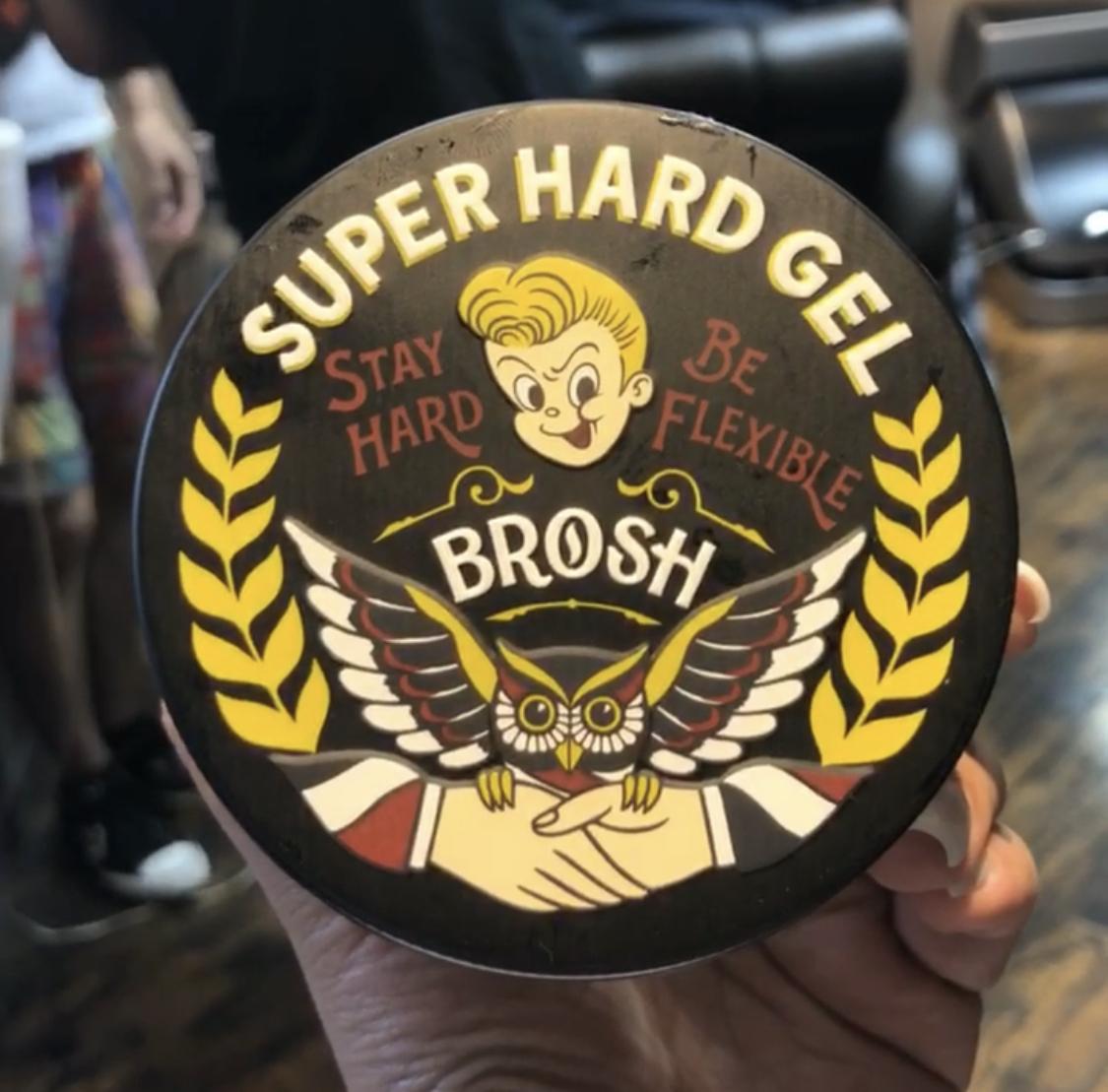 BROSH ブロッシュ スーパーハードジェル 200g BROSH オリジナルの香り 黒缶