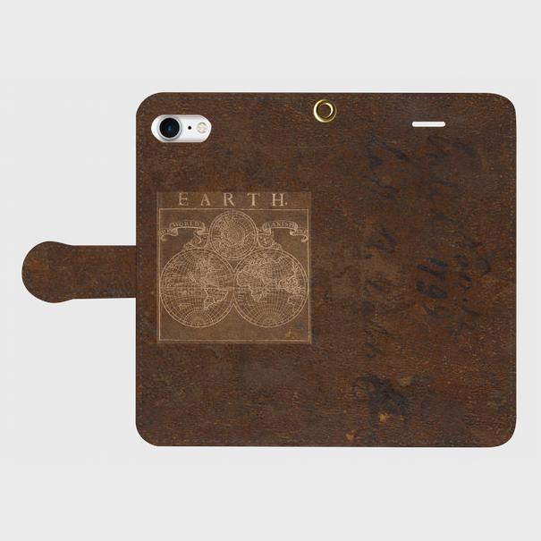 古地図(1700年代) / iPhoneスマホケース(手帳型ケース)