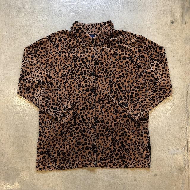 Liz Sport Leopard Velor Shirt