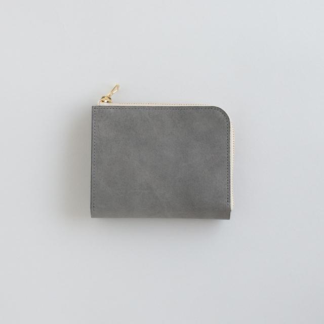 【受注製作】革の財布S グレー