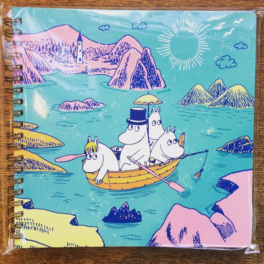 「ムーミン クロッキーノート 2冊セット」(星空/ボート) - 画像1