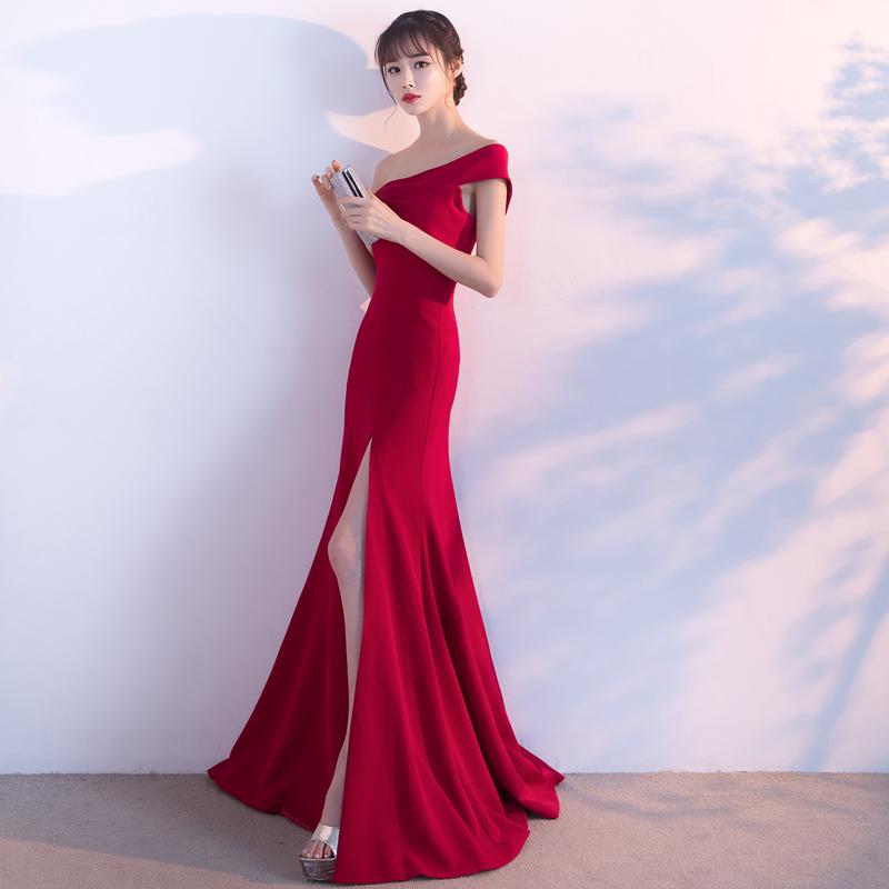 マーメイドラインドレス☆深スリット