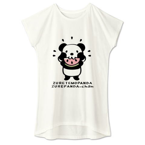 キャラT40 ズレぱんだちゃん*スイカも食べよう ワンピースタイプ Tシャツ