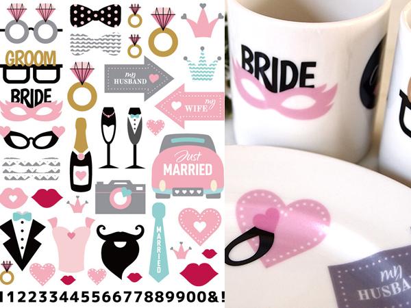 Wedding Party ウエディングパーティー♪ A4サイズ(ポーセラーツ用転写紙 結婚式)