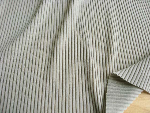 綿強撚糸使い 畝編みニット ライトオリーブ NTM-2273