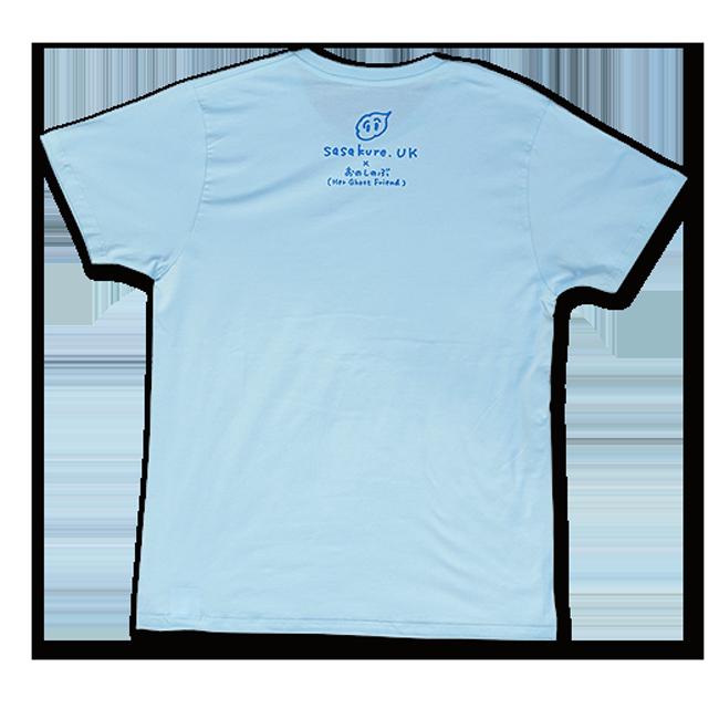 sasakure.UK 「アタマ★ビックリ」Tシャツ(メンズ/シャーベットブルー) - 画像2