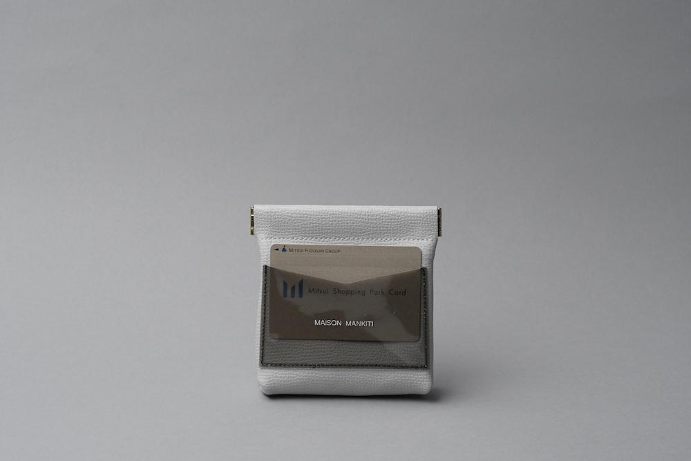 送料無料・ギフトラッピング(ギフト箱)無料○ ワンタッチ・コインケース ■ライトグレー・クリアブラック■ - 画像4