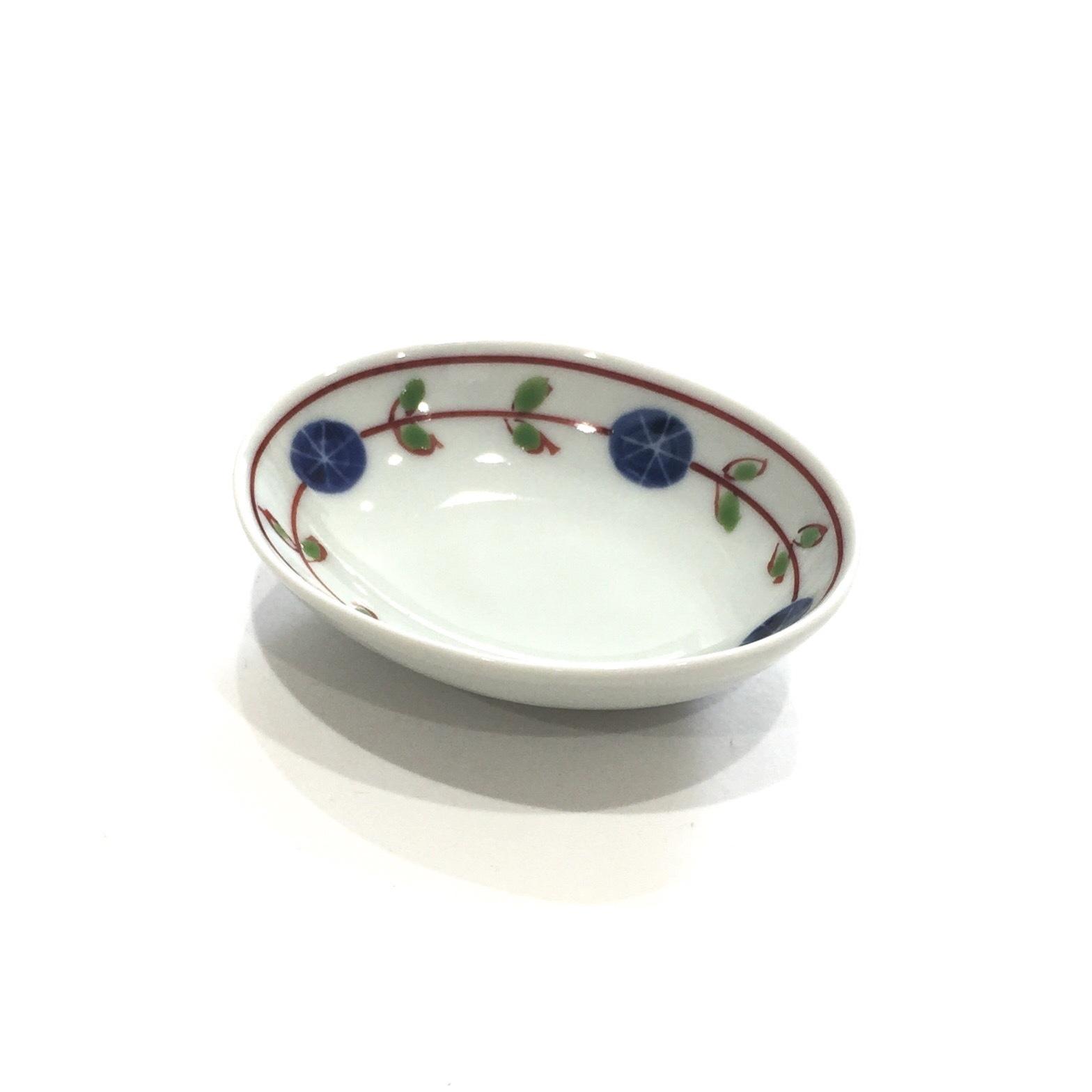 錦丸紋輪つなぎ  楕円豆皿