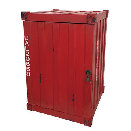コンテナ型ボックス レッド インダストリアル・アンティーク調・収納家具
