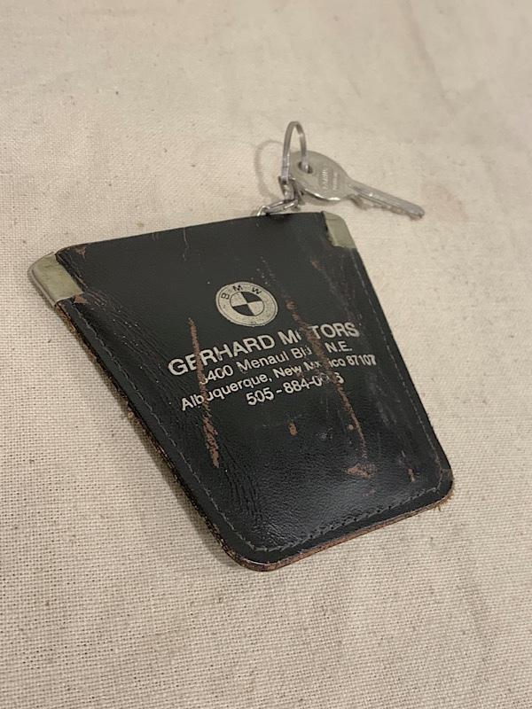 "LEATHER KEY & COIN CASE  "" GERHARD MOTORS """