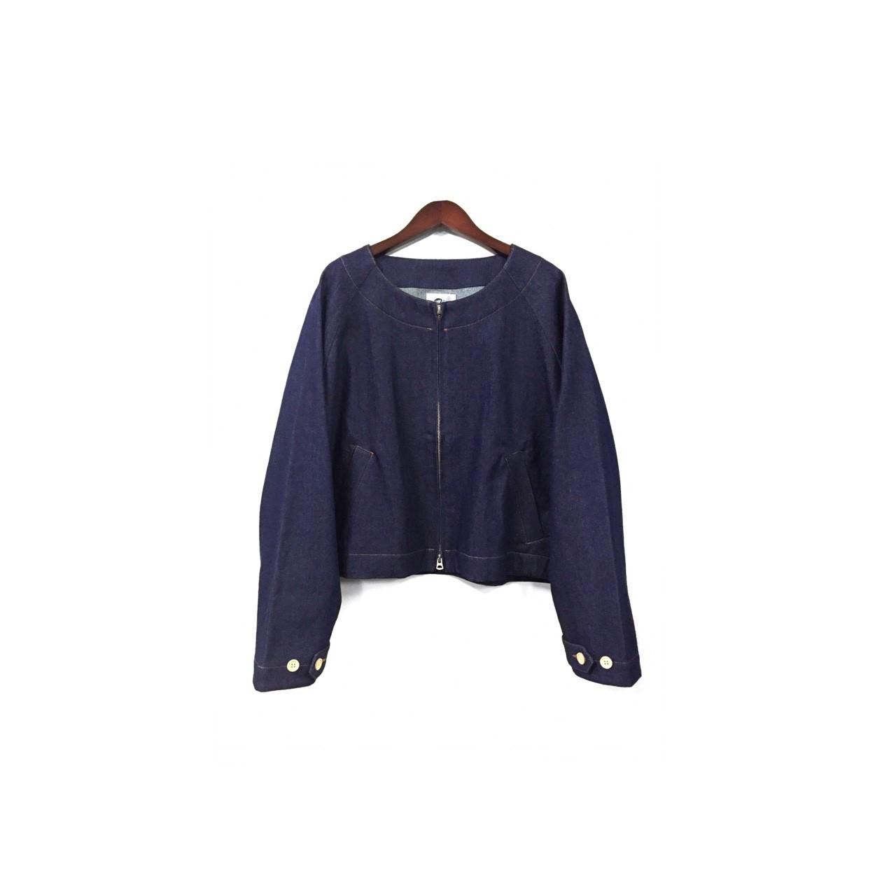 yotsuba - Nocollar Denim Jacket / Indigo ¥23000+tax