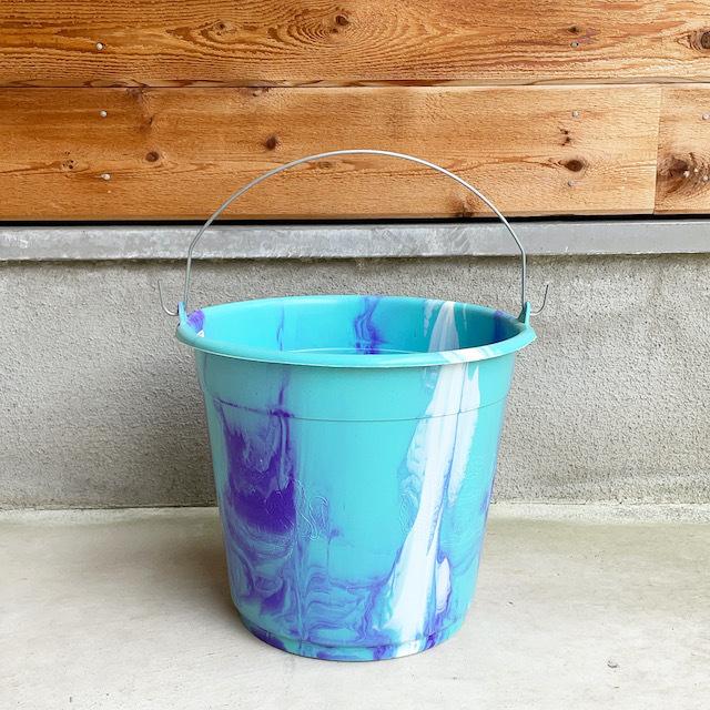 Africa Plastic marble pattern bucket アフリカ マーブル プラスチック バケツ10L