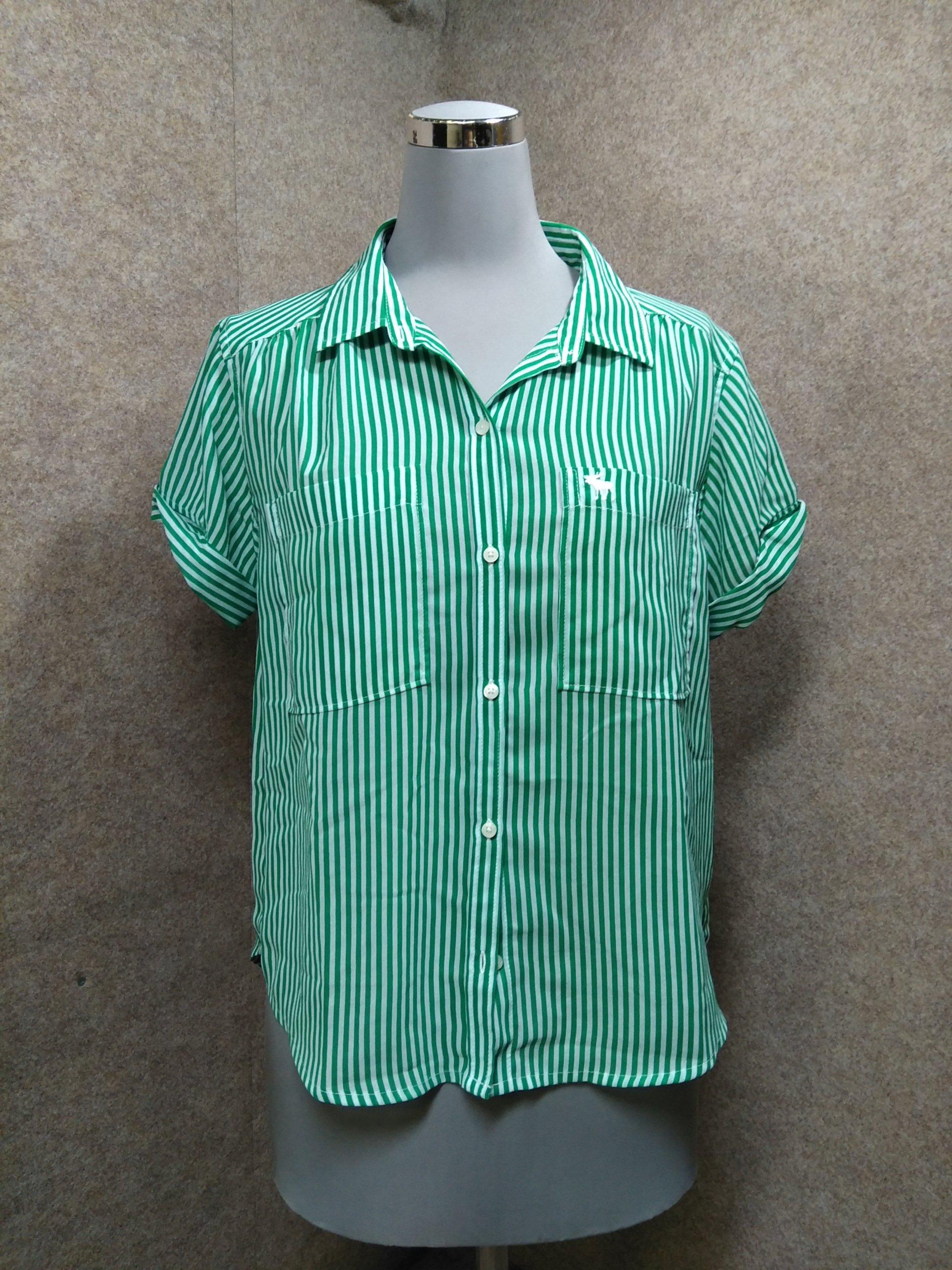Abercrombie アバクロ 半袖シャツ ブラウス XS 緑 mh734e