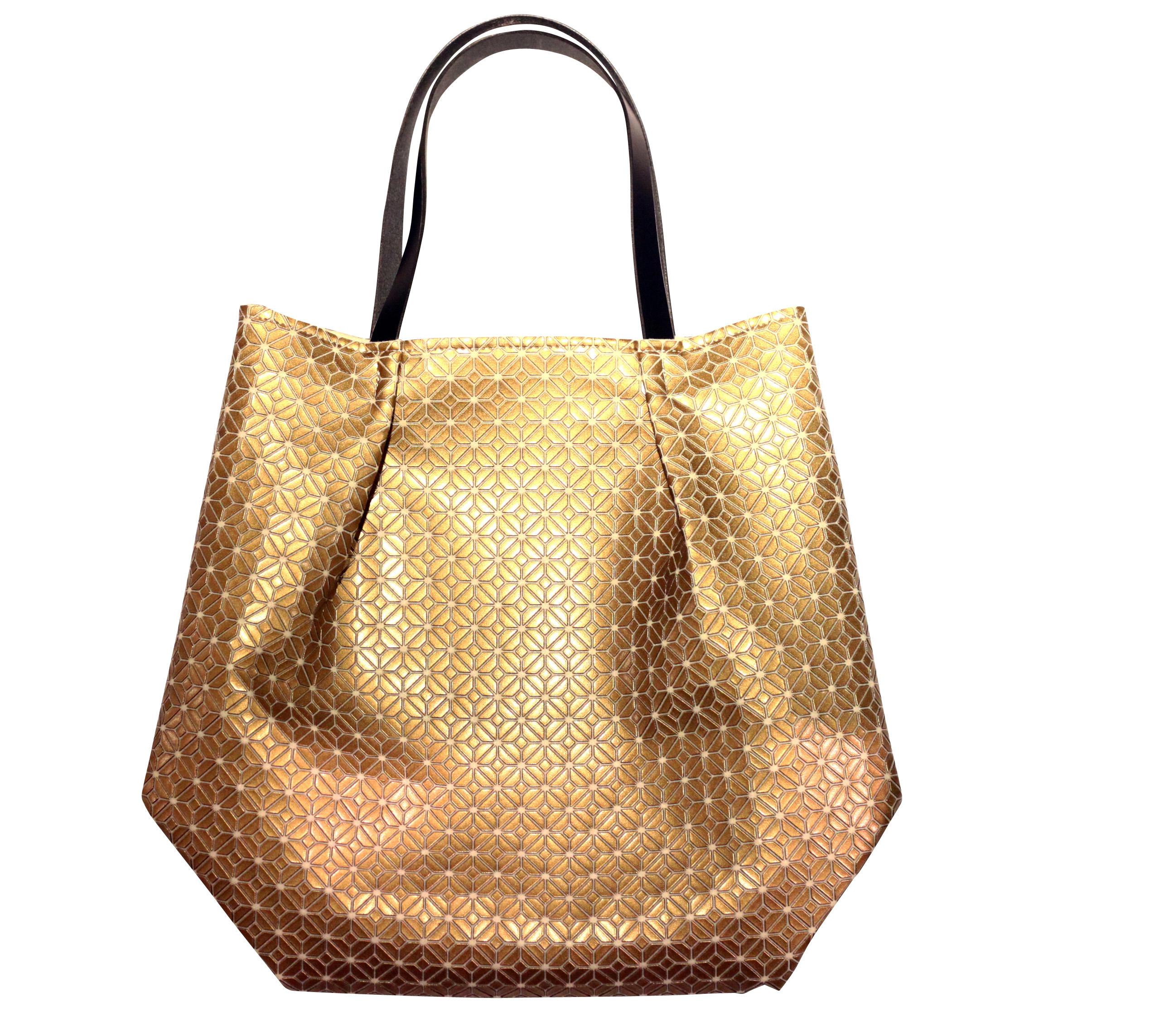 COMMON tote Bag / GOLD WHITE