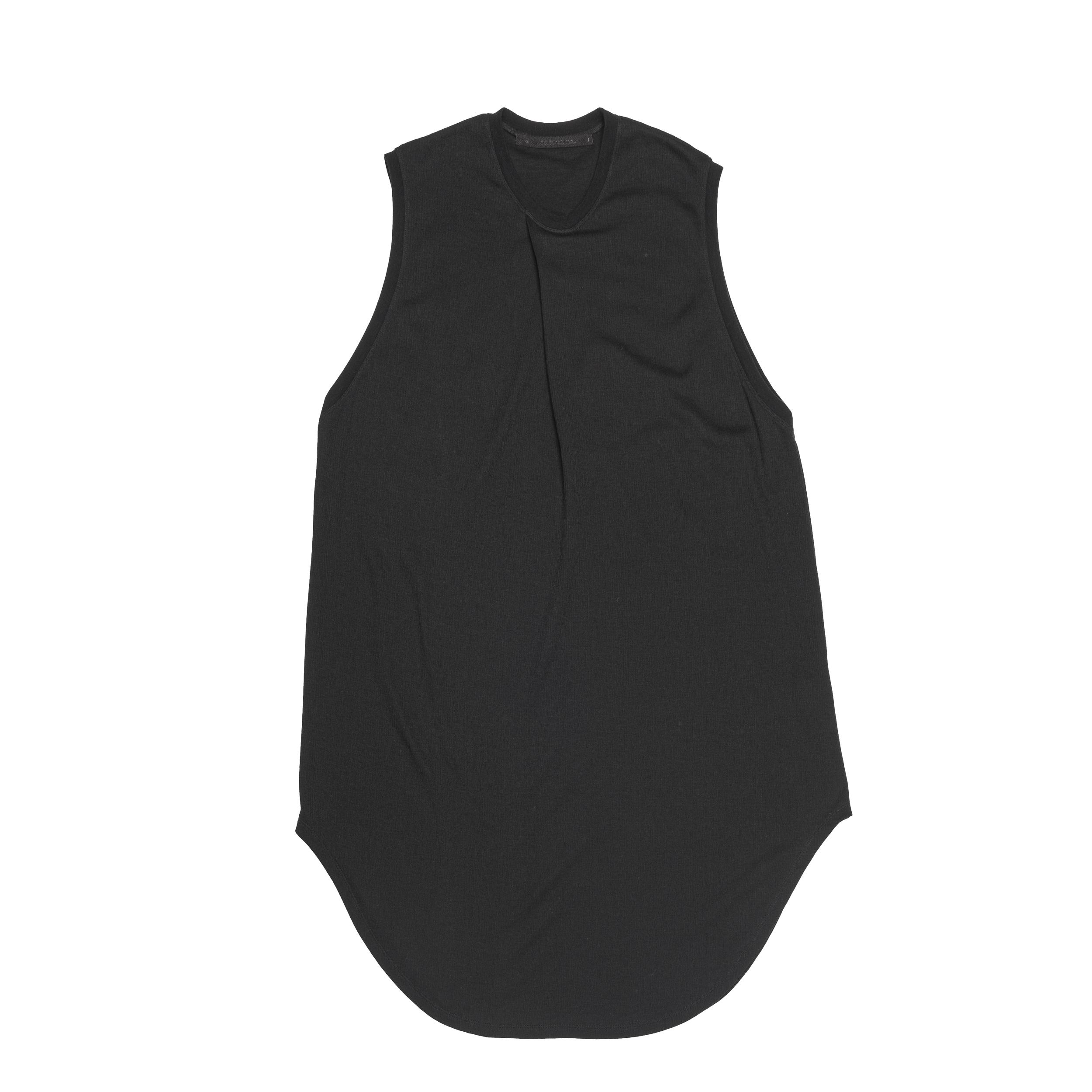 667CUM4-BLACK / タックドノースリーブシャツ