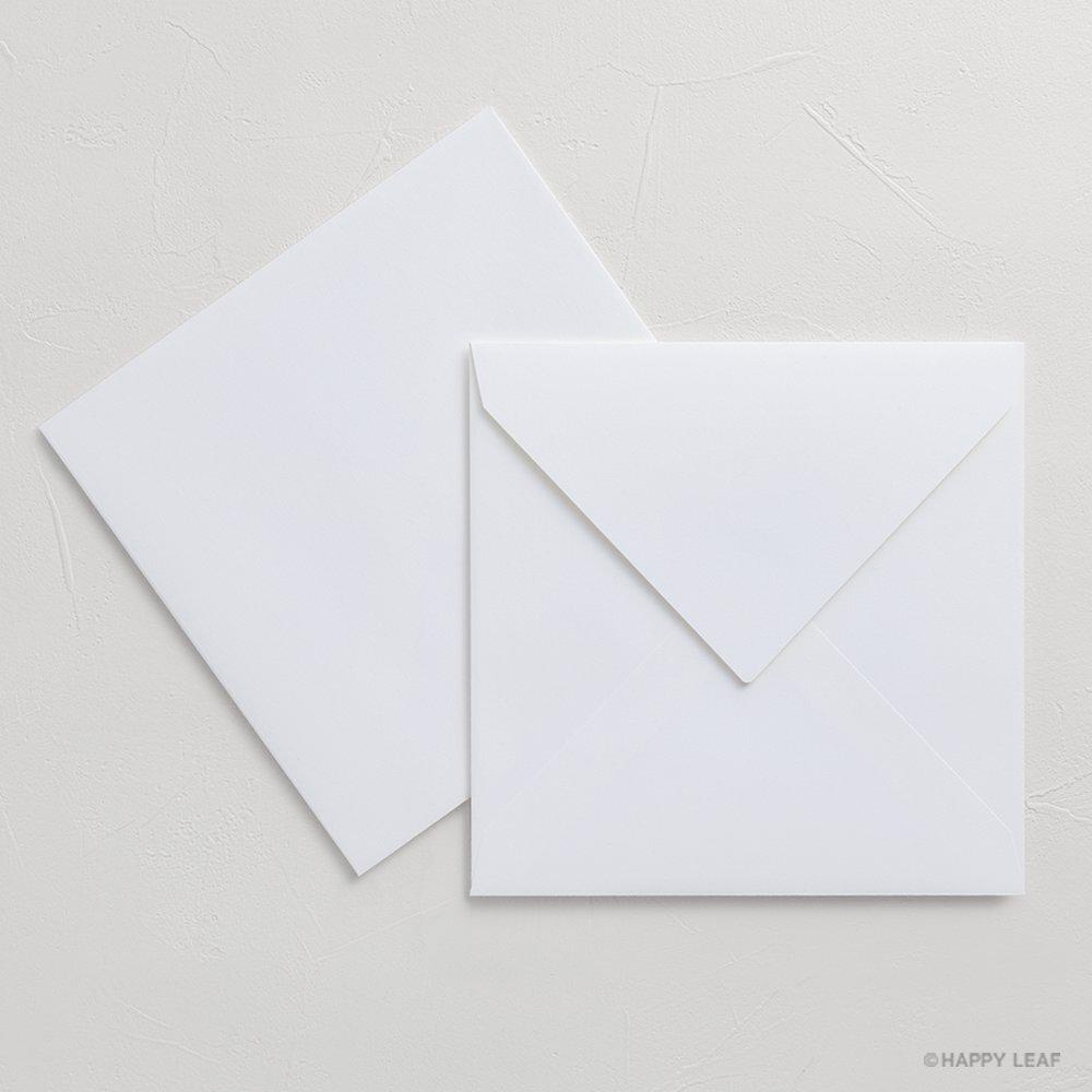 正方形コットン封筒 ホワイト(ダイヤ型)/10枚