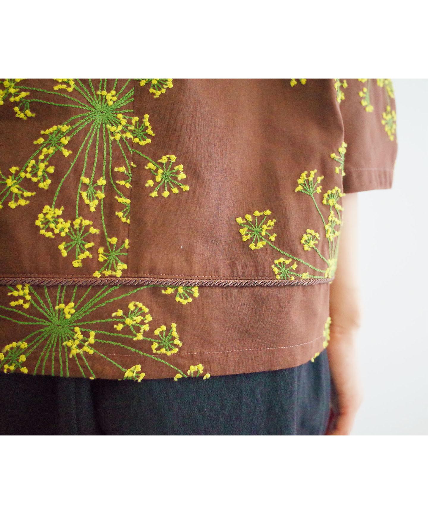 フェンネル刺繍プルオーバー (evi921  BRN・ブラウン)