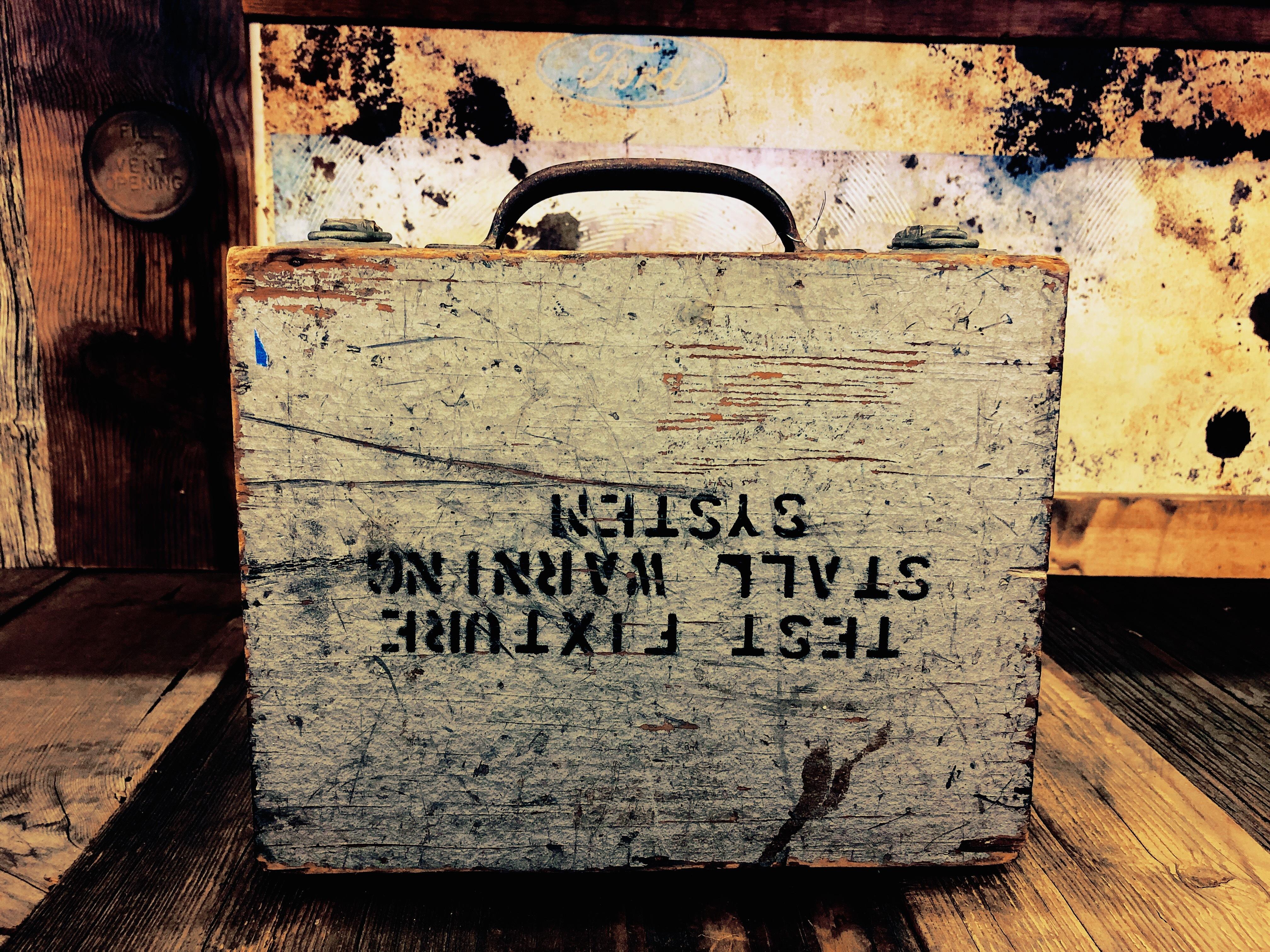 品番5865 工具ケース ツールボックス 木箱 ヴィンテージ