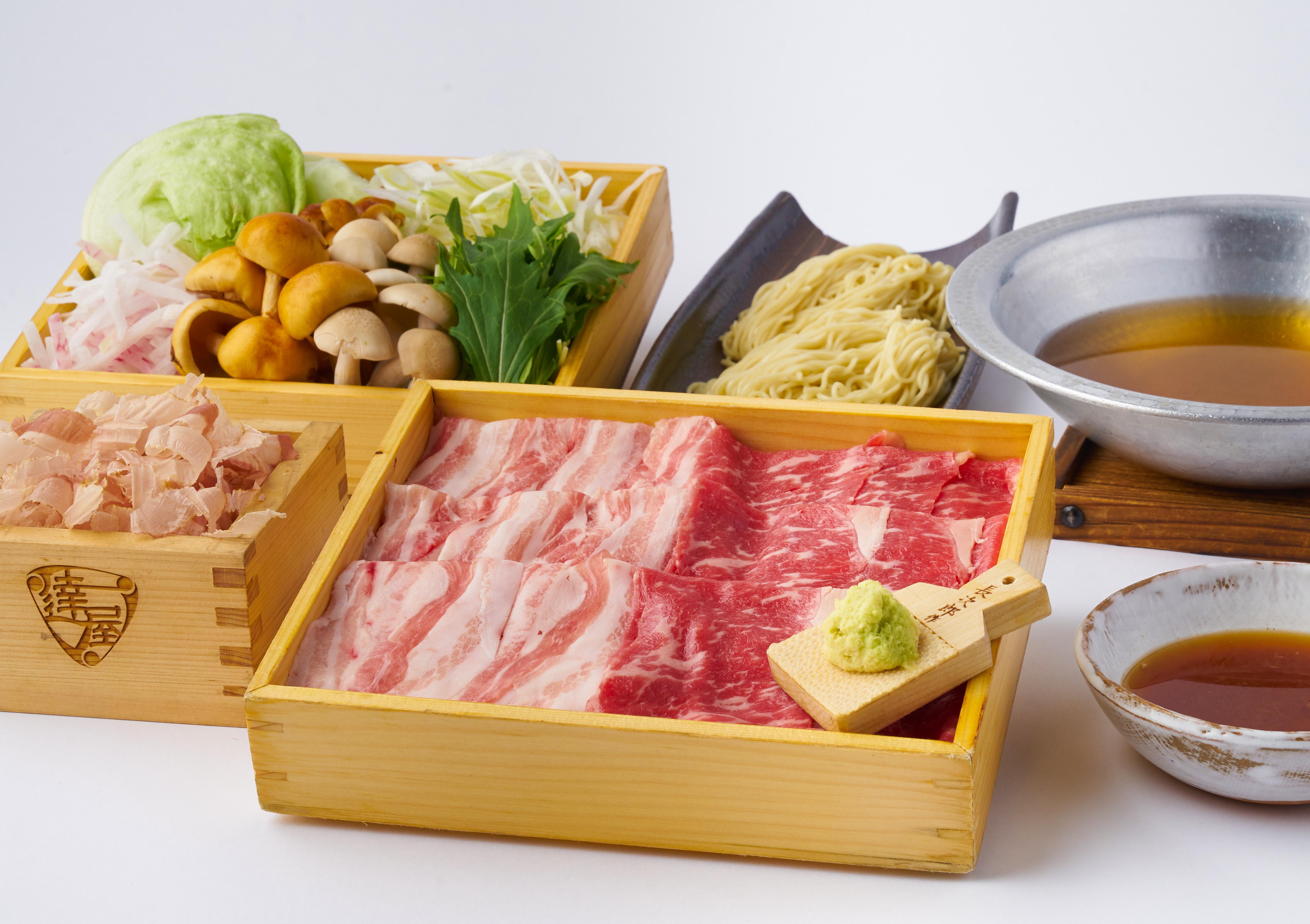 《お肉1.5倍!》「滋賀 近江牛」「十勝放牧豚」食べ比べ 究極のしゃぶしゃぶ 2人前セット