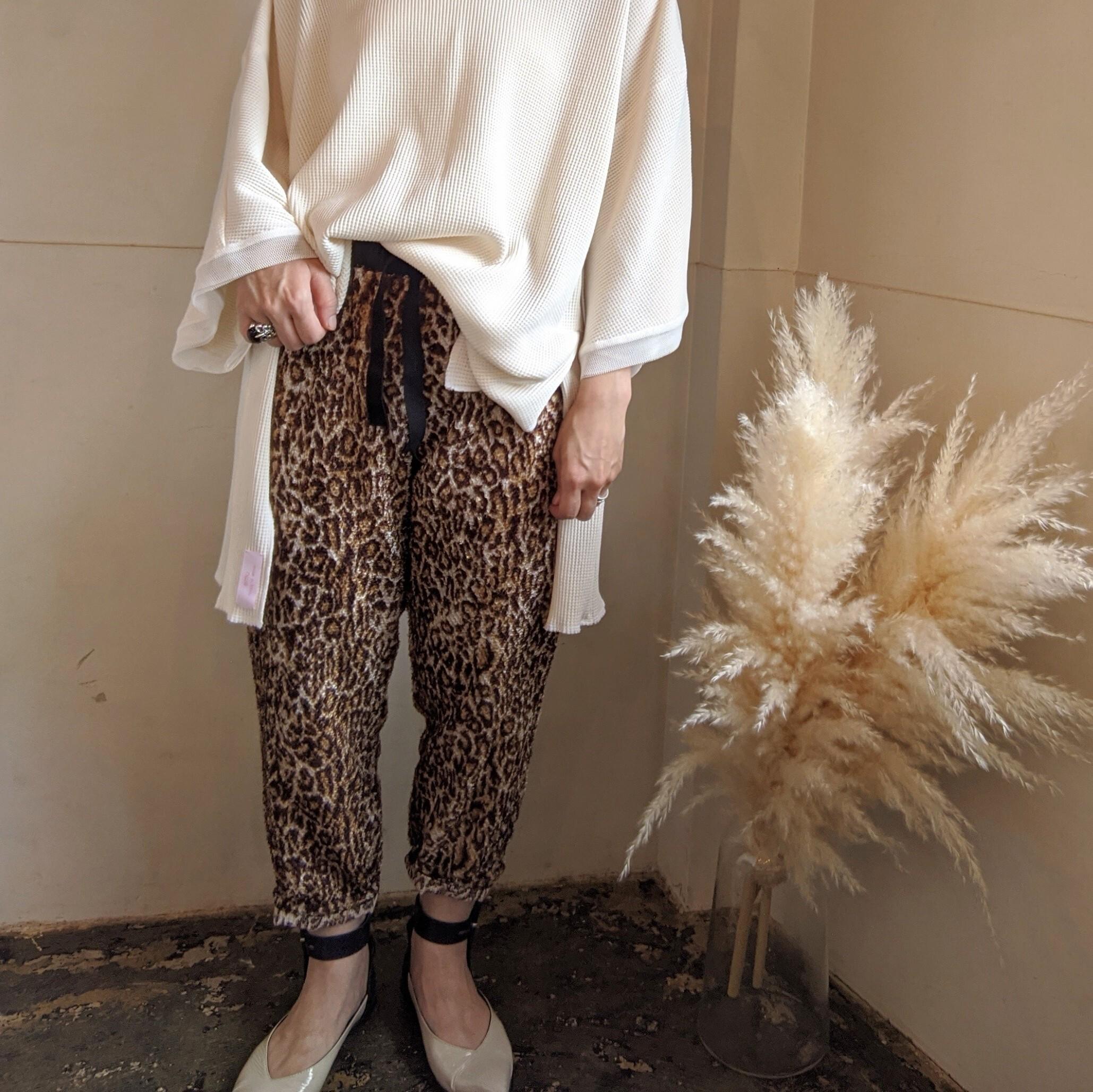 ume original / leopard relux pants / ウメオリジナル レオパードリラックスパンツ ヒョウ柄