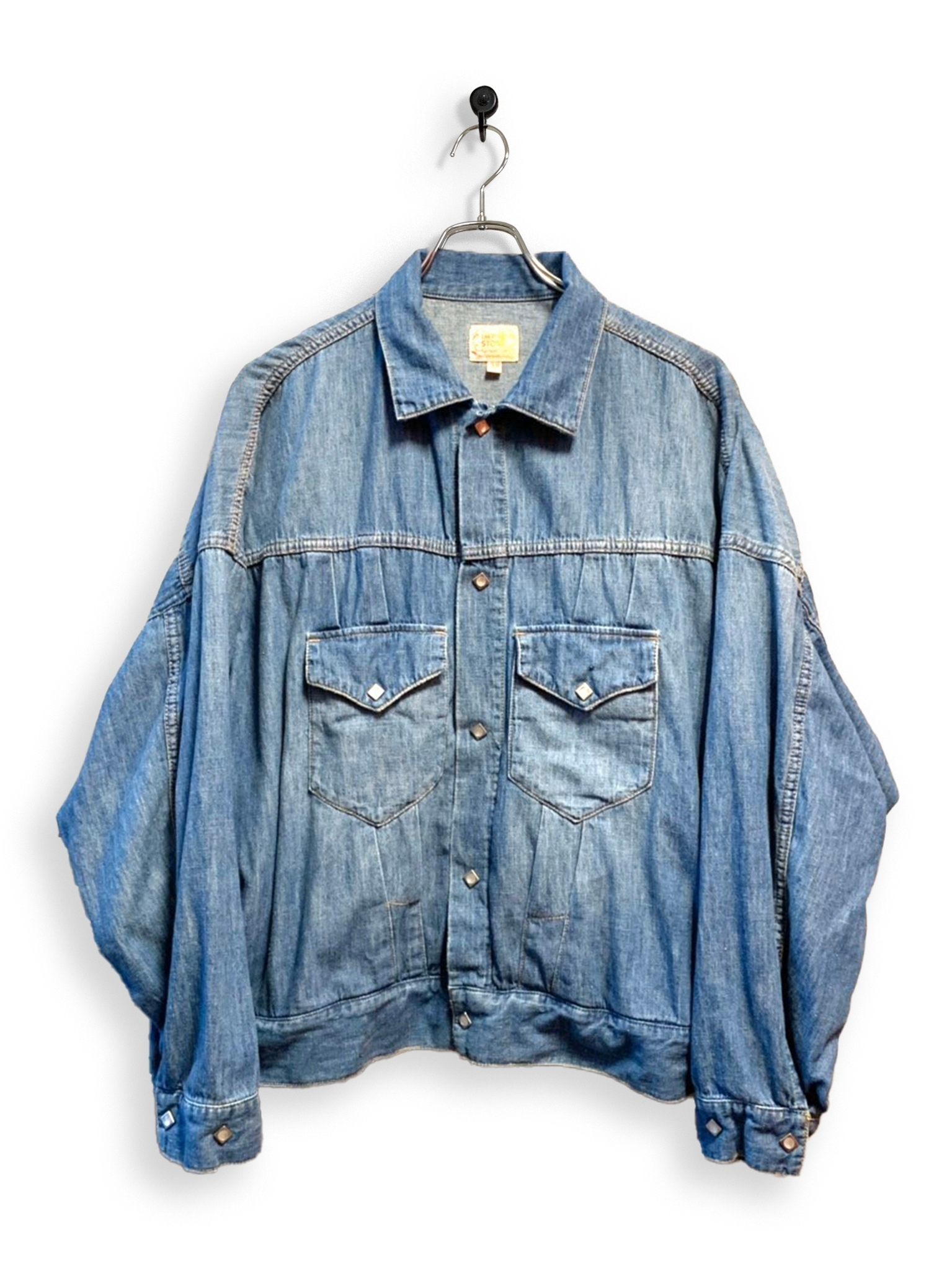 6.5oz Denim Western Short Jacket / special wash