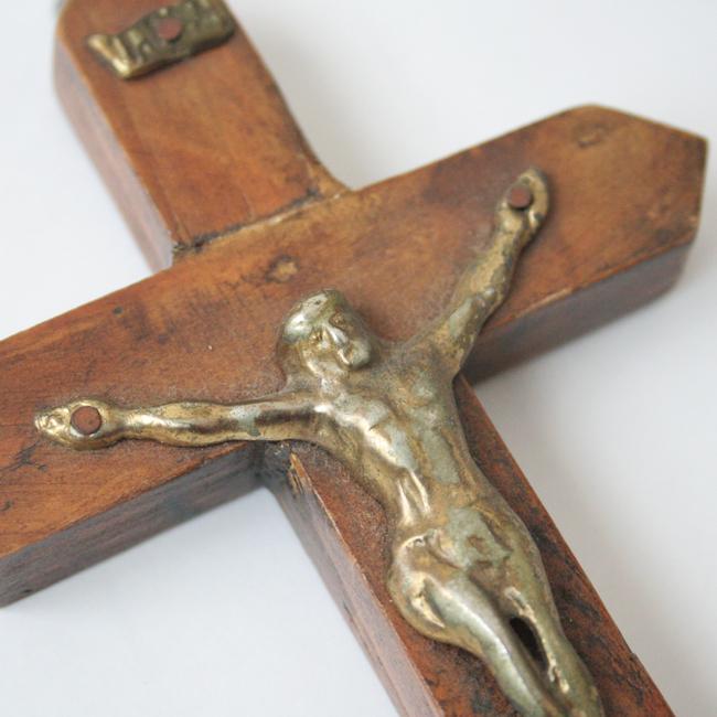 真鍮のキリスト壁掛けクロス  /110/ MEXICO メキシコ