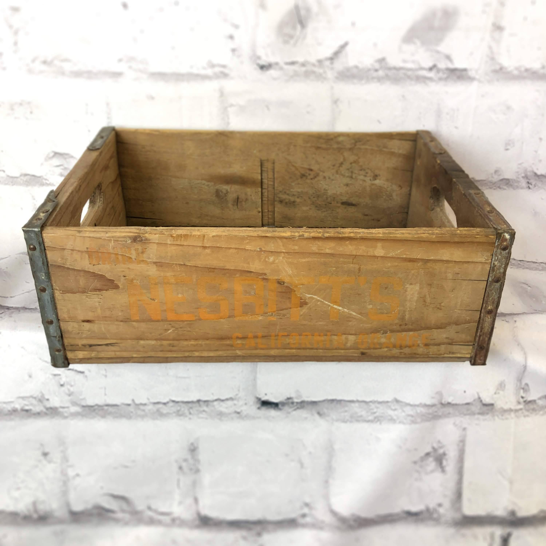 品番6435-2 NESBITT'S(ネスビット) 木箱 ウッドボックス ディスプレーボックス アメリカン ヴィンテージ