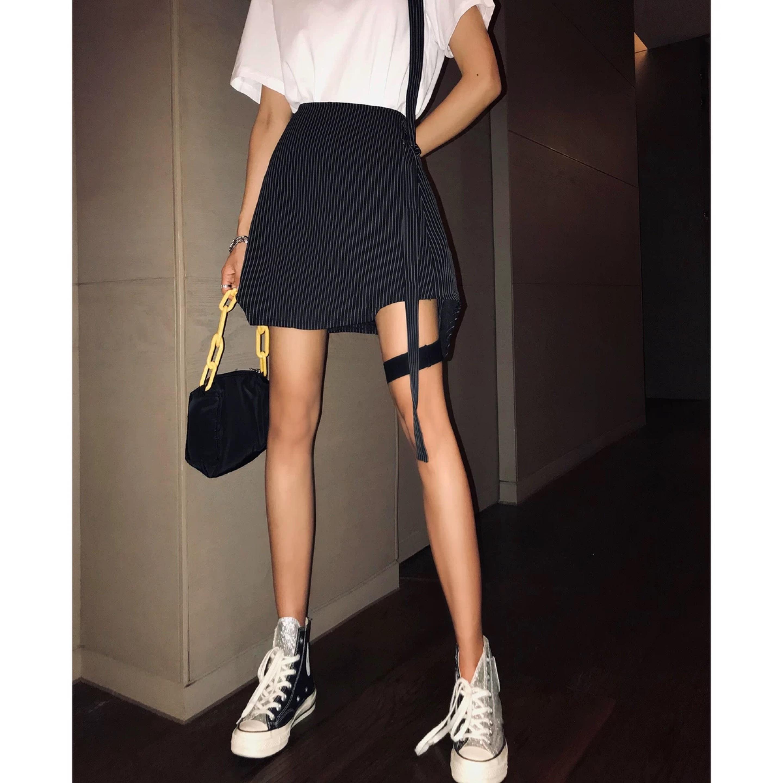 strip garter skirt