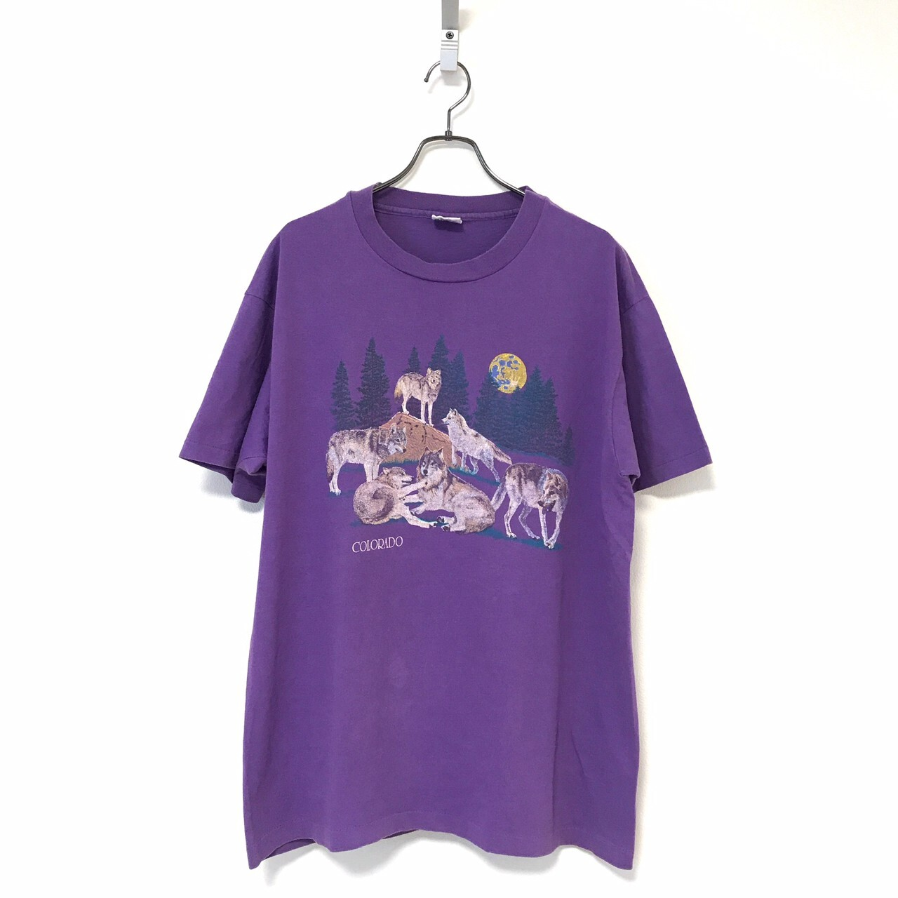 90's anvil Colorado Coyote T-shirt made in USA XL Purple