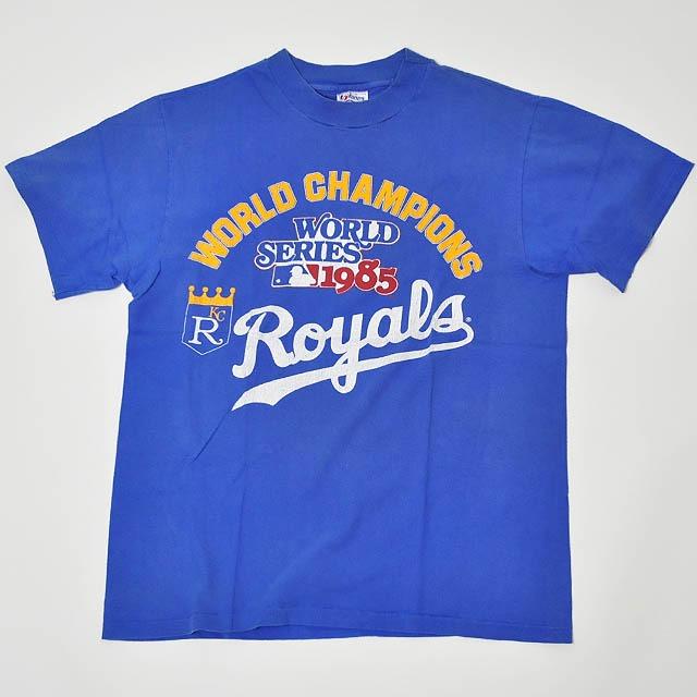【Used】Made in USA Hanes MLB World Series 1985 Kansas City Royals T-Shirt