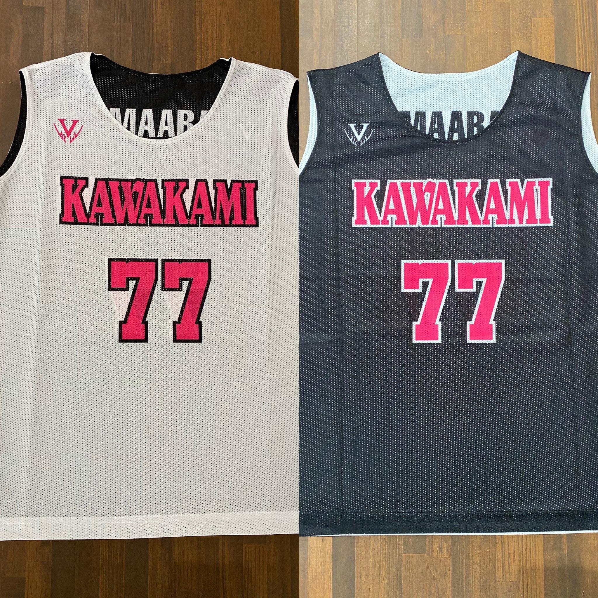 【デザインサンプル】川上ミニバスケットボールスポーツ少年団(U12・女子)リバーシブルシャツ