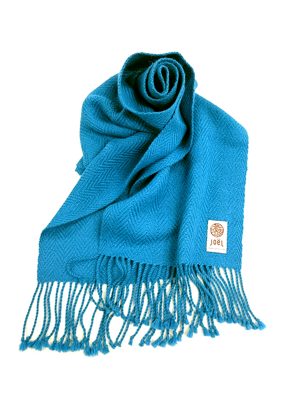 アルパカ100%ブルーマフラー Azul