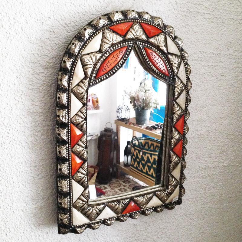 モロッコ装飾ミラー/アーチ/魚/MOROCCO