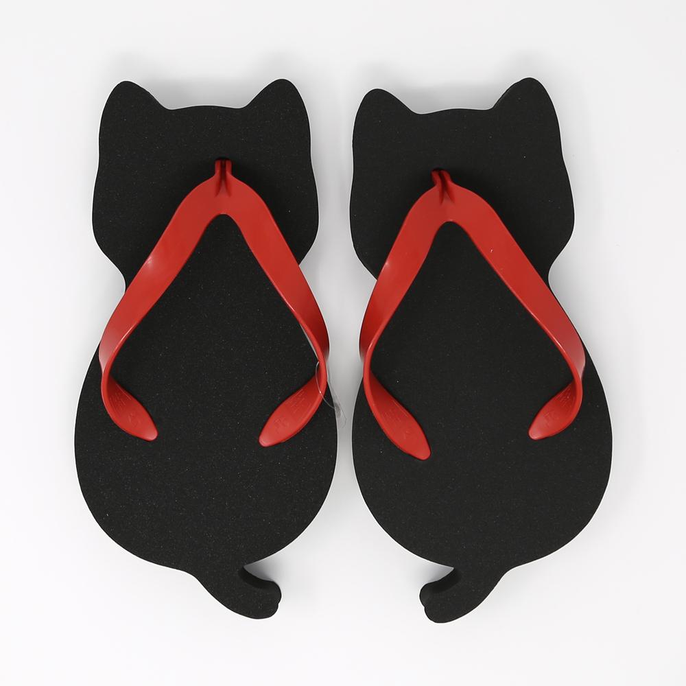 猫スポンジ下駄(にゃらげた)黒猫