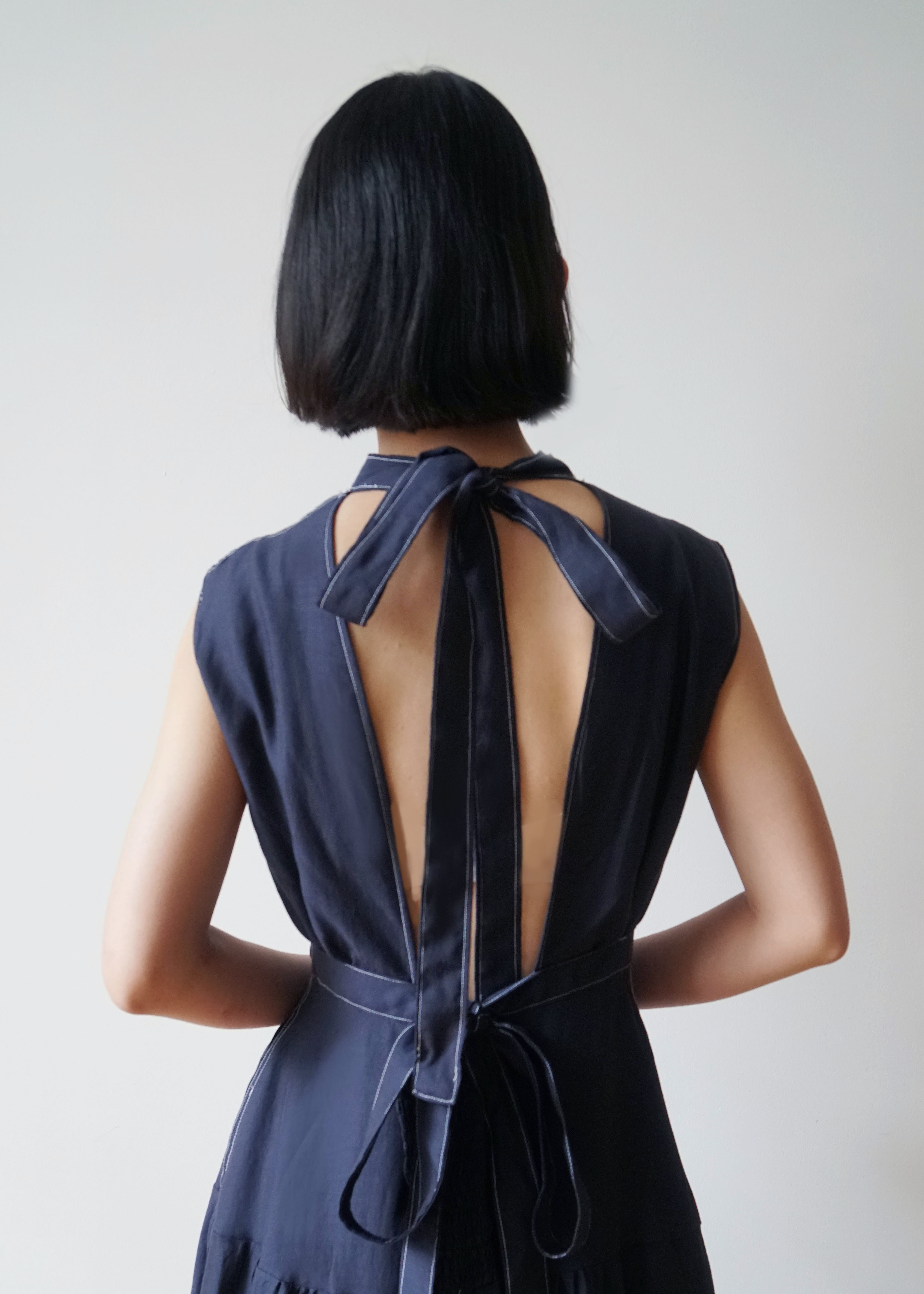 IAPETUS BACK BOW TIE DRESS【内金50%】