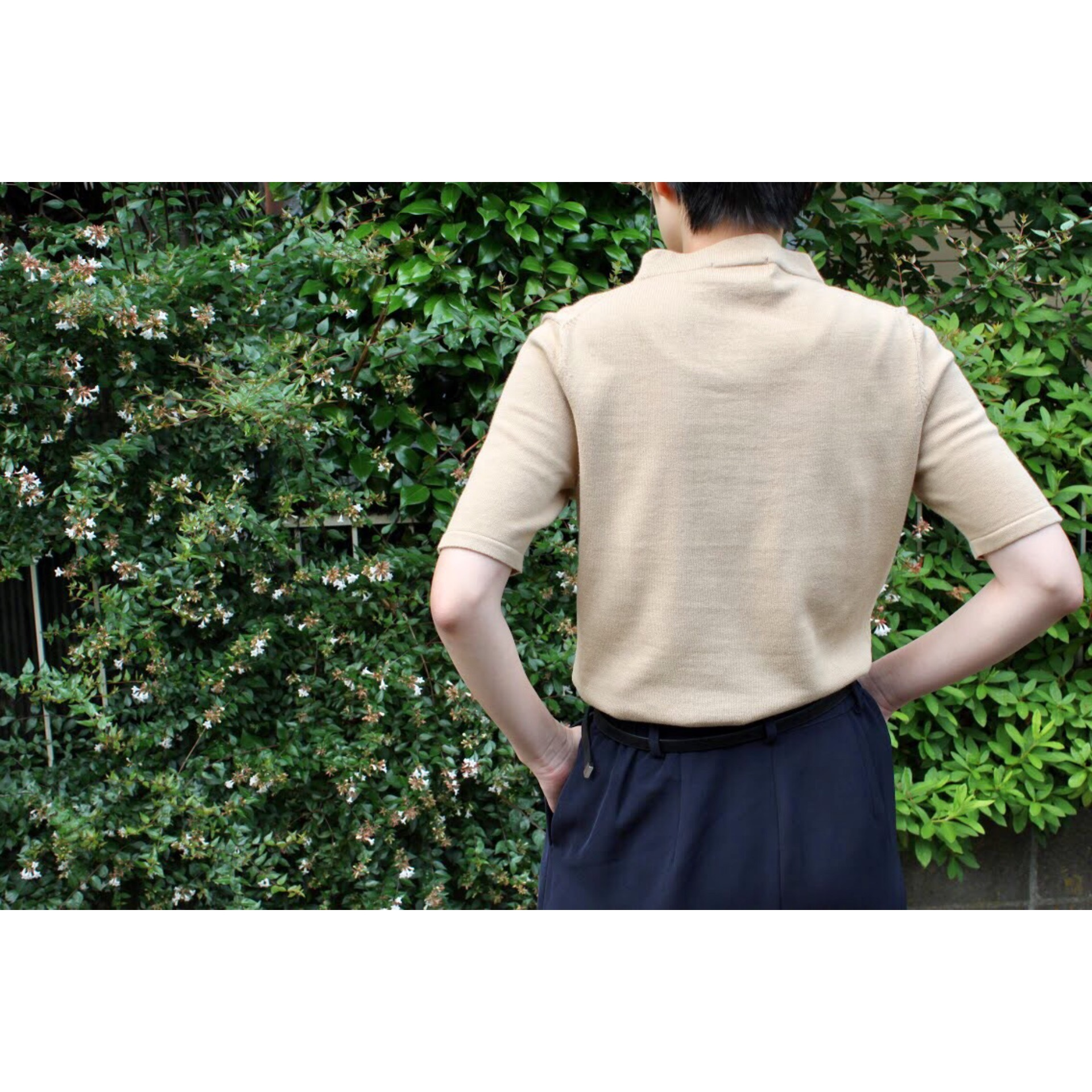 Vintage hi neck knitted shirt