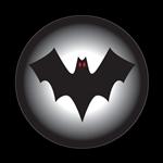 ゴーバッジ(ドーム)(CD0761 - Seasonal Halloween Bat) - 画像1